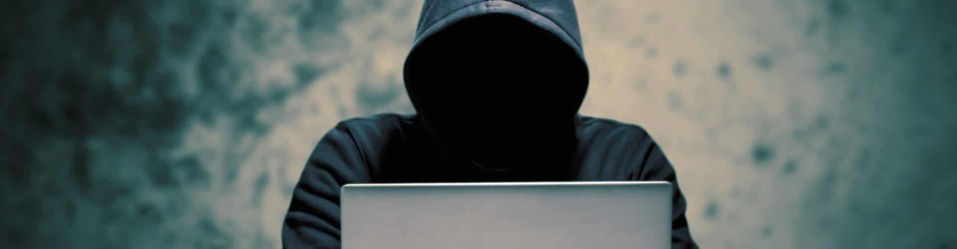 Hackers with computer data theft in the social world.